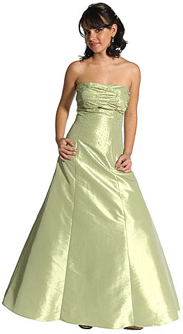 Strapless Ruched Bodice Prom Dress