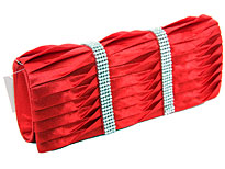 Rhinestone Embellished Satin Evening Bag in Red. ch-1003-rd.