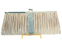 Ruched Elegance Evening Bag in Champaign. ch-3475-ch.