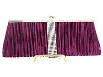 Ruched Elegance Evening Bag in Purple. ch-3475-ppl.
