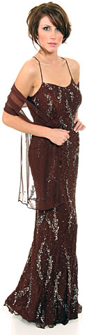 Straight Sequin Formal Dress Beaded on Silk. d1002.