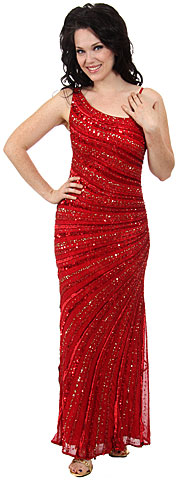 Striped Sequin Beaded Formal Evening Dress. d1111.