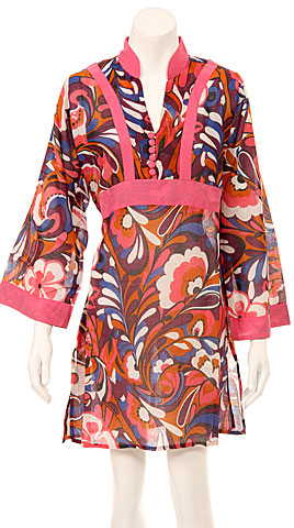 Long Sleeve Floral Print Pink Summer Dress. fm14-pk.