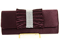 Ruffled Bow Evening Bag. hy5110-ppl.
