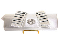 Elliptical Attraction Evening Bag . hy5301-sv.