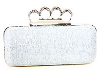 Metal Frame Elegant Evening Bag in Silver. k661r-sv.