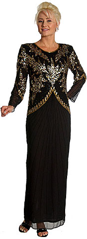 Hand Beaded Full Length Formal Dress. kd121.