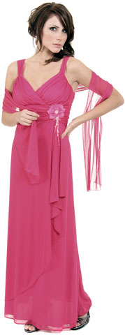 Elegant Wrap Around Shirred Homecoming Dress. p051.