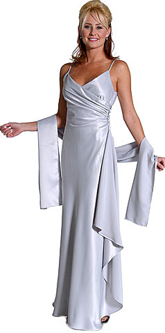 Satin Full Length Bridesmaid Dress 6