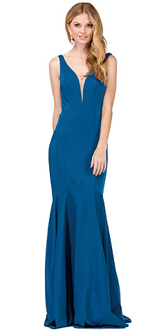 Deep V-Neck Drop Waist Long Formal Evening Dress. p2186.