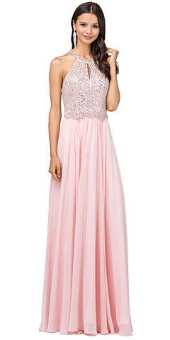 Embellished Bodice & Back Straps Long Prom Dress. p2402.