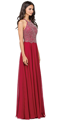 Embellished Bodice & Back Straps Long Prom Dress. p2402.