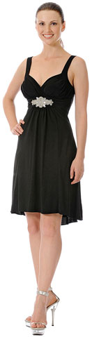 Ruched Overlap Bust Short Formal Party Dress. p7723.