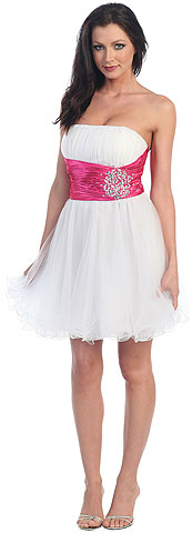 Short Prom Dress With Embellished Waistline. p8011.