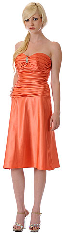 Strapless Rouched Bodice Party Dress