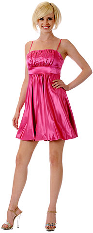 Spaghetti Straps Ruched Bust Short Graduation Dress. p804.