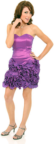 Short Flirty Ruffled Party Prom Dress. p8083s.