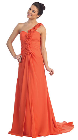Off Shoulder Roman Pageant Dress. p8300.