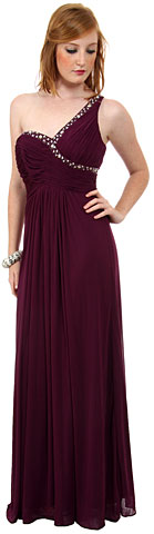 Greco Roman Formal Dress with Bead Accents. p8324.