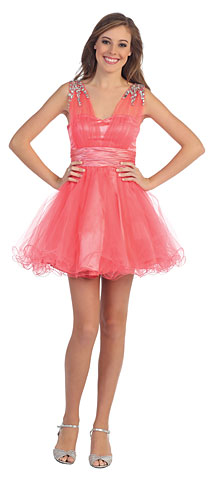 Sweetheart Neck Layered Mesh Short Plus Size Prom Dress. p8590.