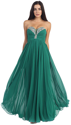 Strapless Rhinestone Bust Long Formal Dress. p8693.