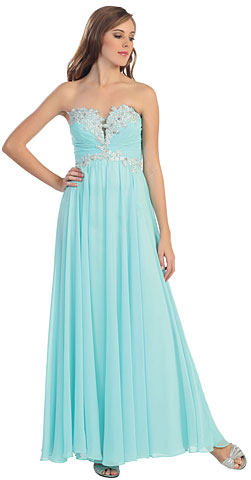Strapless Beaded Bust Formal Evening Formal Dress. p8712.