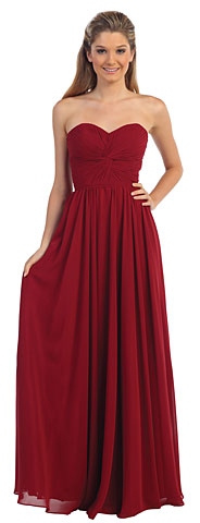 Strapless Twist Knot Bust Formal Bridesmaid Dress. p8789.
