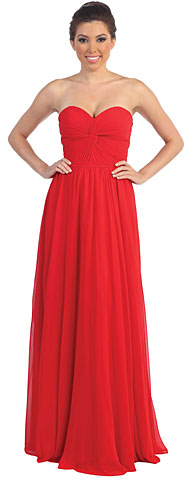 Strapless Twist Knot Bust Formal Formal Dress. p8789.