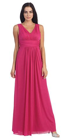 V-Neck Shirred Artistic Lace Back Long Plus Size Prom Dress. p8896.