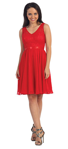 V-Neck Lace Bodice Short Homecoming Party Dress. p9064.