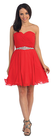 Strapless Ruched Bust Short Homecoming Party Dress. p9115.