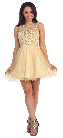 Bejeweled Bust Short Babydoll Homecoming Party Dress. p9118.