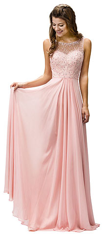 Sleeveless Sequins Embellished Floor Length Prom Dress. p9382.