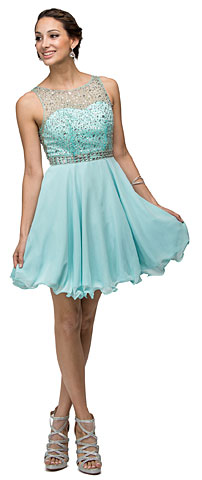 Sparkling Jewels Bodice Short Homecoming Plus Size Prom Dress. p9459.