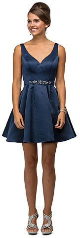 V-Neck Fit & Flare Short Homecoming Homecoming Dress. p9514.