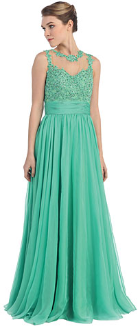Floral Lace Bust Full Length Formal Dress. pc3285.