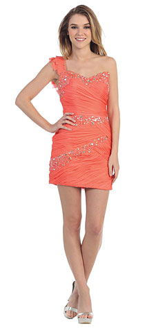Beaded Bandage Design Short Prom Dress. pc6902.