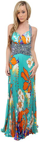 Tropical Elegance Long Formal Dress. py1039.