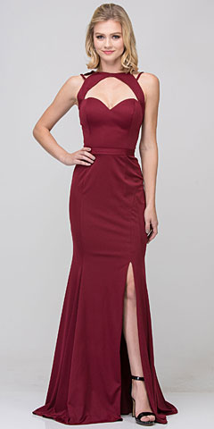 Cutout Sweetheart Neckline Long Fitted Formal Dress. s17278.