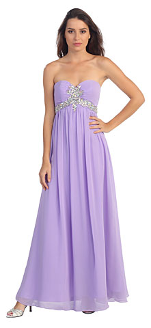 Strapless Rhinestones Bust Long Formal Prom Dress. s547.