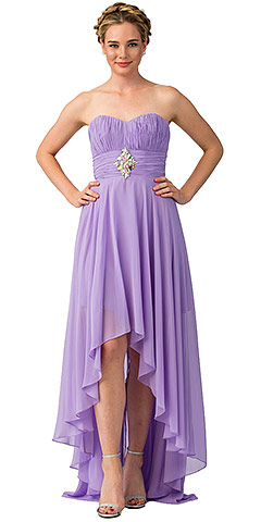 Strapless Rhinestones Waist Hi-Low Formal Cocktail Dress . s606-1.