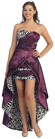 Elegant Strapless High-Low Prom Dress with Layered Skirt . s8054.