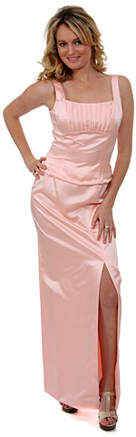 Satin Beaded Full Length Bridesmaid Dress. wb022.