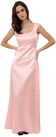 Boat Neck Beaded Bridesmaid Dress. wb038.