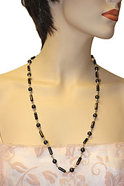 Black Hand-Painted Necklace. 06-nk-039.