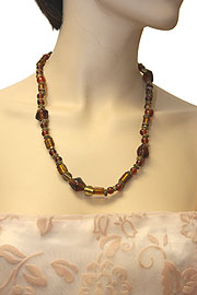 Amber Colored Fashion Necklace. 06-nk-042.
