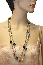 Multi Colored Single Strand Necklace. 06-nk-105.