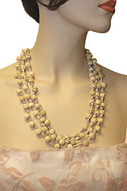 Ivory Hand Tied Necklace. 06-nk-121.