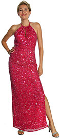 Halter Neck Sequined Cocktail Dress