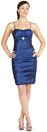 Tight Shirred Pencil Skirt Party Dress